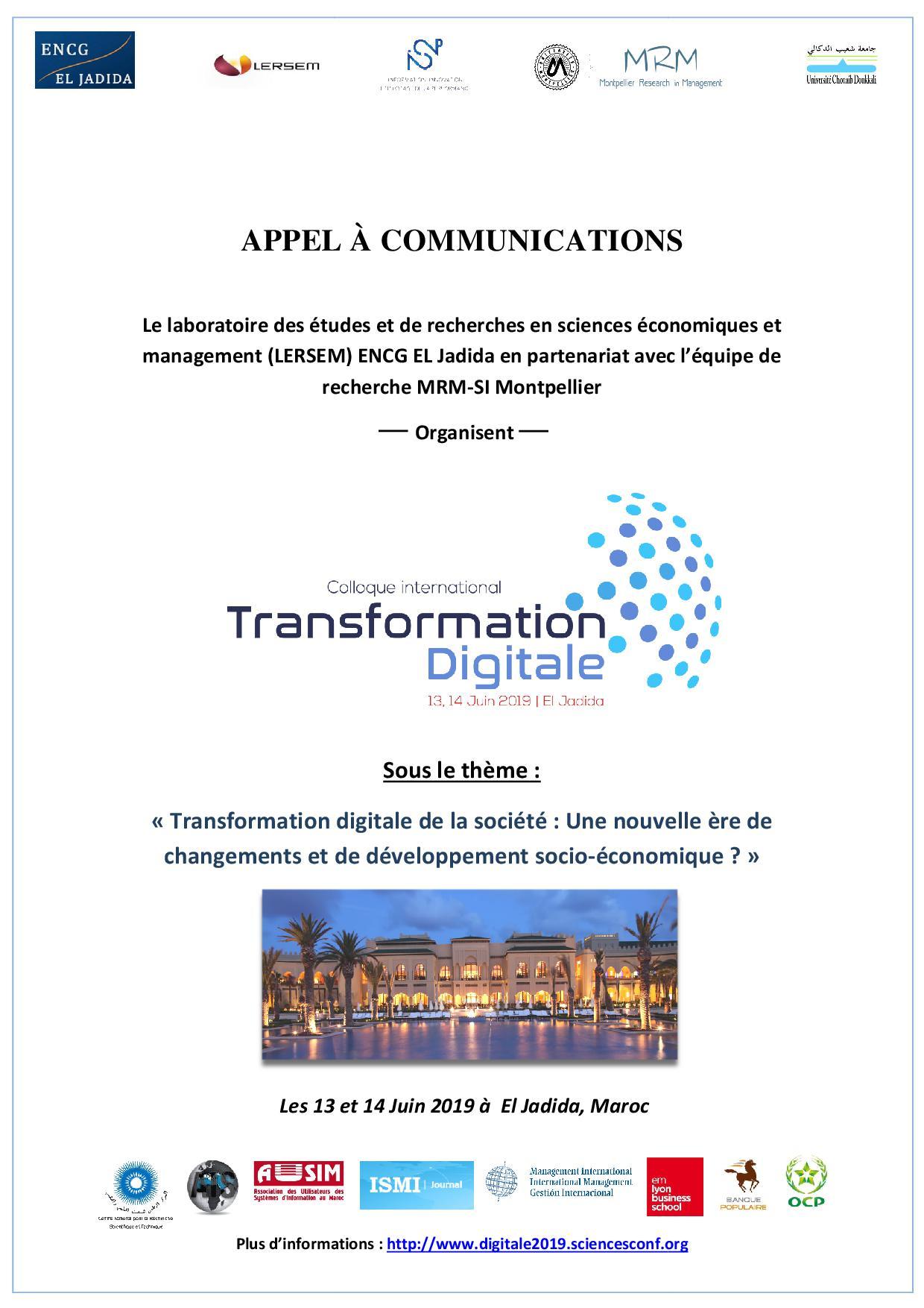 CONFERENCE TRANSFORMATION DIGITALE 2019